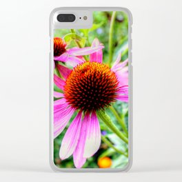 Coneflowers Clear iPhone Case