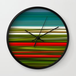 Praia da Luz Spring Poppies Wall Clock