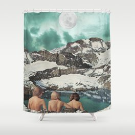 Moon Bathing Shower Curtain