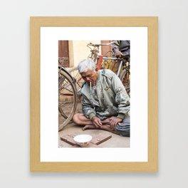 THE OLD GUY Framed Art Print