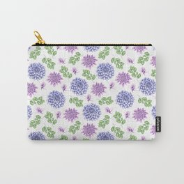Lavender Garden Pattern Carry-All Pouch