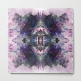 Abstract Batik Mandala Rorschach Ink Blot Pattern - Yoshitsugu Metal Print