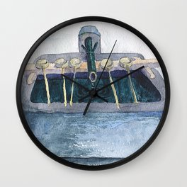Shinto shrine handwashing Wall Clock