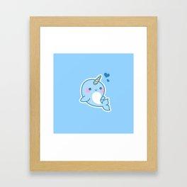 The Unicorn Dolphin Framed Art Print