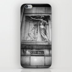 City Hall Chicago Black and White iPhone & iPod Skin
