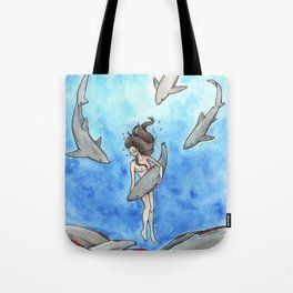 Heartbreak of Shark Finning Tote Bag