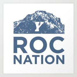 BYU Roc Nation (Blue) Art Print