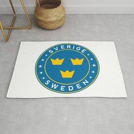 Sweden, Sverige, 3 crowns, circle Rug