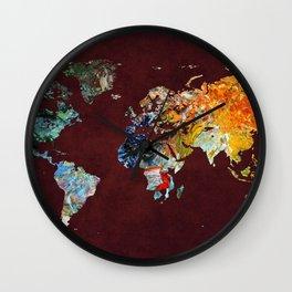 World Map 5 Wall Clock