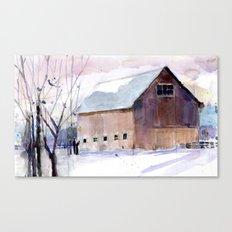 Barn - Purple Canvas Print