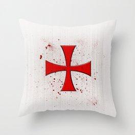 The Crusades Bloody Knight Templar Throw Pillow