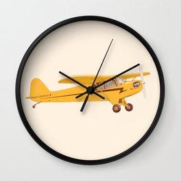 Little Yellow Plane Wall Clock