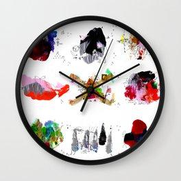 9 abstract rituals Wall Clock