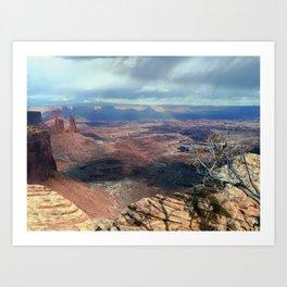 Thunderstorm over Canyonlands Art Print