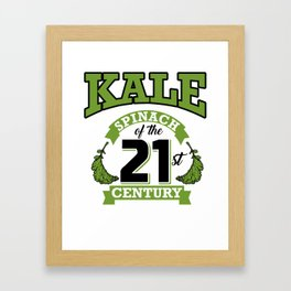 Kale Spinach of the 21st Century Kale Art for Vegans Light Framed Art Print