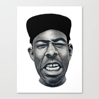 tyler the creator Canvas Prints featuring IFHY (Tyler the creator) by Black Neon