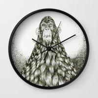 monkey Wall Clocks featuring Monkey by Tapioles II