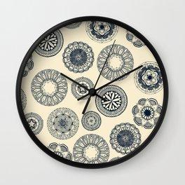 mandala cirque spot cream Wall Clock