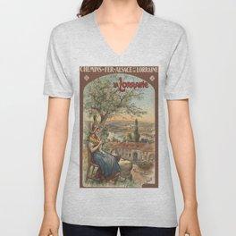 Vintage poster - France Unisex V-Neck