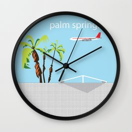 Palm Springs CA Mid Century Modern  Wall Clock