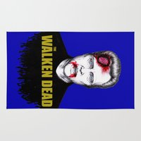 christopher walken Area & Throw Rugs featuring THE WALKEN DEAD by Dianah B
