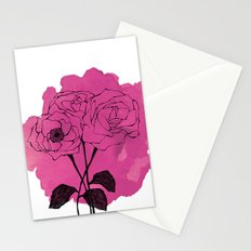spray roses Stationery Cards