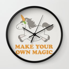 Make Your Own Magic - Pony Turned Unicorn Wall Clock