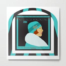 Art Deco Magazine Metal Print