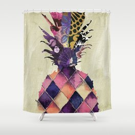 Pineapple Brocade Shower Curtain