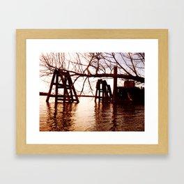 Rusted River Framed Art Print