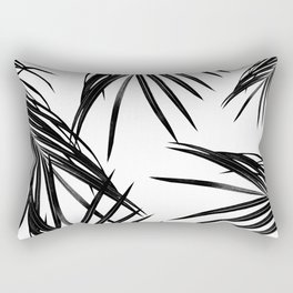 Black Palm Leaves Dream #1 #tropical #decor #art #society6 Rectangular Pillow
