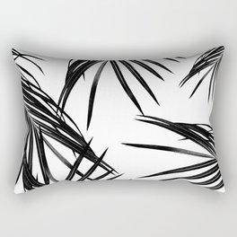 Black Palm Leaves Dream #1 #tropical #decor #art #society6 Rectangular Pillow