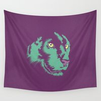 panther Wall Tapestries featuring Panther Alt by CranioDsgn