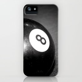 Eight Ball-Black iPhone Case