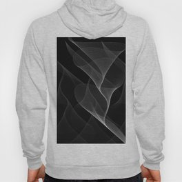 Black and White Flux #minimalist #homedecor #generativeart Hoody