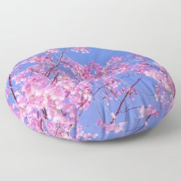Peach blossom, Peach flower, Photo flower, beautiful view, Peach blossom hill,  Floor Pillow
