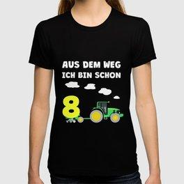 Kinder 8. Geburtstag Ich bin schon 8 Jahre Traktor Trecker  T-shirt