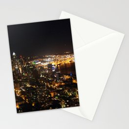 Seattle Night Lights - Great Wheel Stationery Cards
