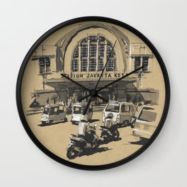 Stasiun Kota Jakarta Wall Clock