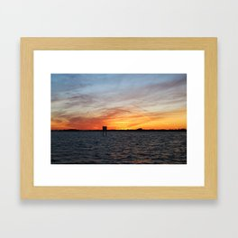 In the Manatee Zone Framed Art Print