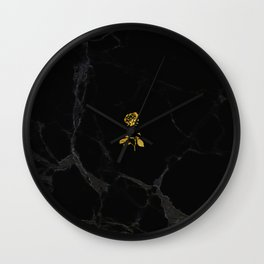 Forever Petal (Black Gold) Wall Clock