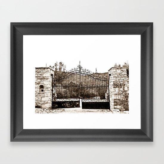 Old Gates Framed Art Print