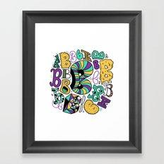All the B's Framed Art Print