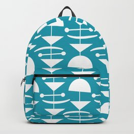 Retro Mid Century Modern Abstract Mobile 660 Turquoise Backpack