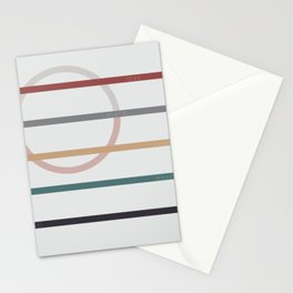 for Love || stripes & circle Stationery Cards