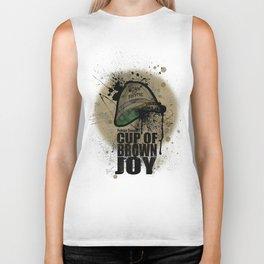 cup of brown joy Biker Tank