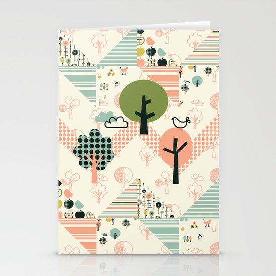 Apple Orchard Zig Zag Stationery Cards
