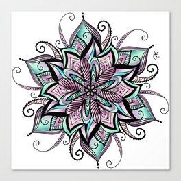 Mandala peacock by sonia H. Canvas Print
