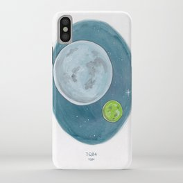 Watercolor Illustration of Haruki Murakami's novel 1Q84 iPhone Case