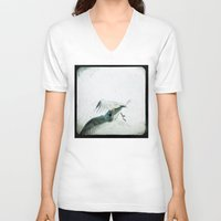 wings V-neck T-shirts featuring Wings by Bella Blue Photography